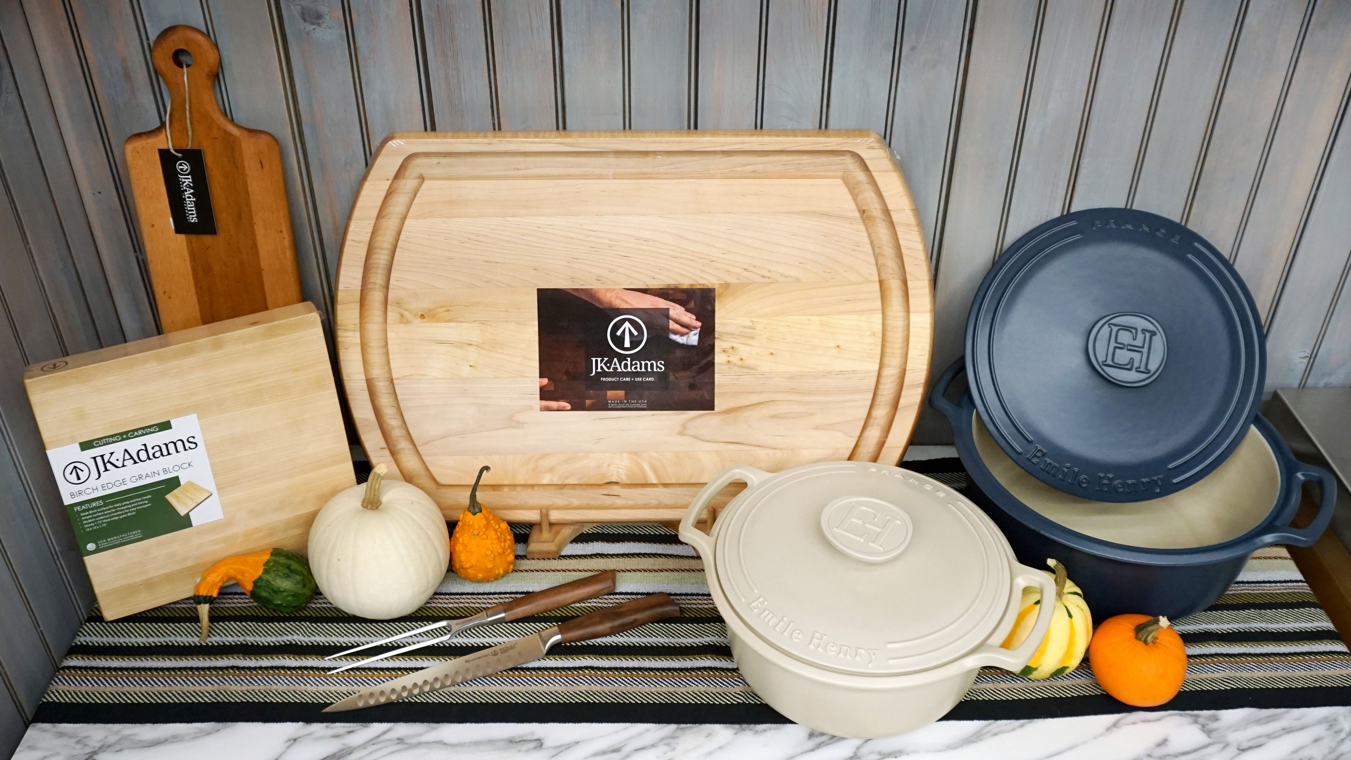 JK Adams x Emile Henry x Messermeister Fall Cookware Giveaway Giveaway Image