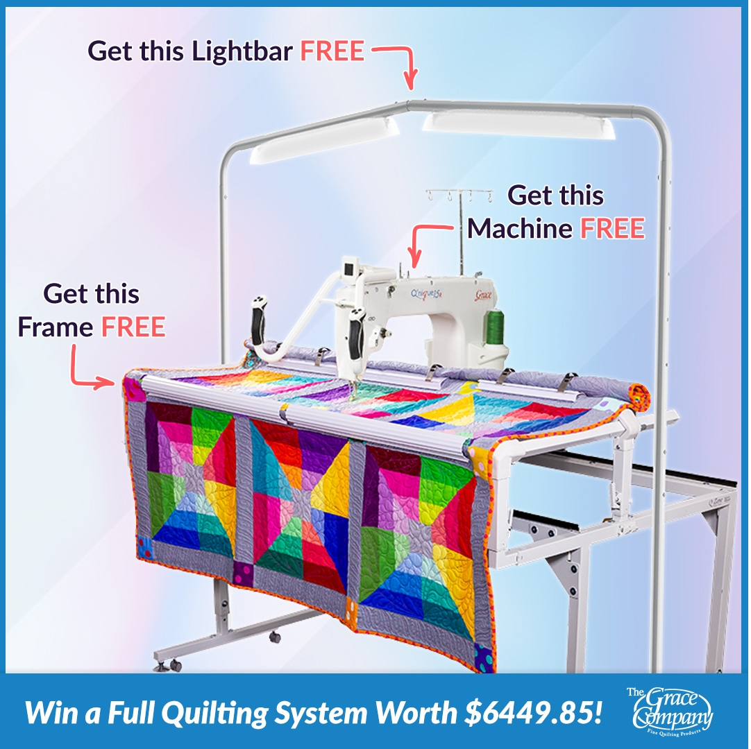 Win a Q15R quilting system worth $6449 Giveaway Image