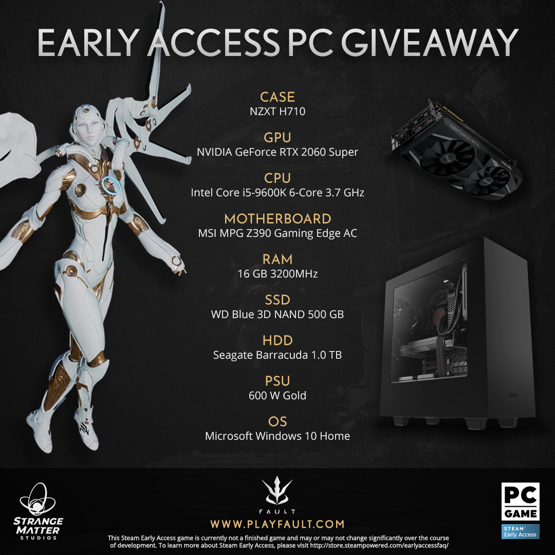 Fault PC Giveaway. Full PC with GeForce 2060, 16GB Ram Giveaway Image