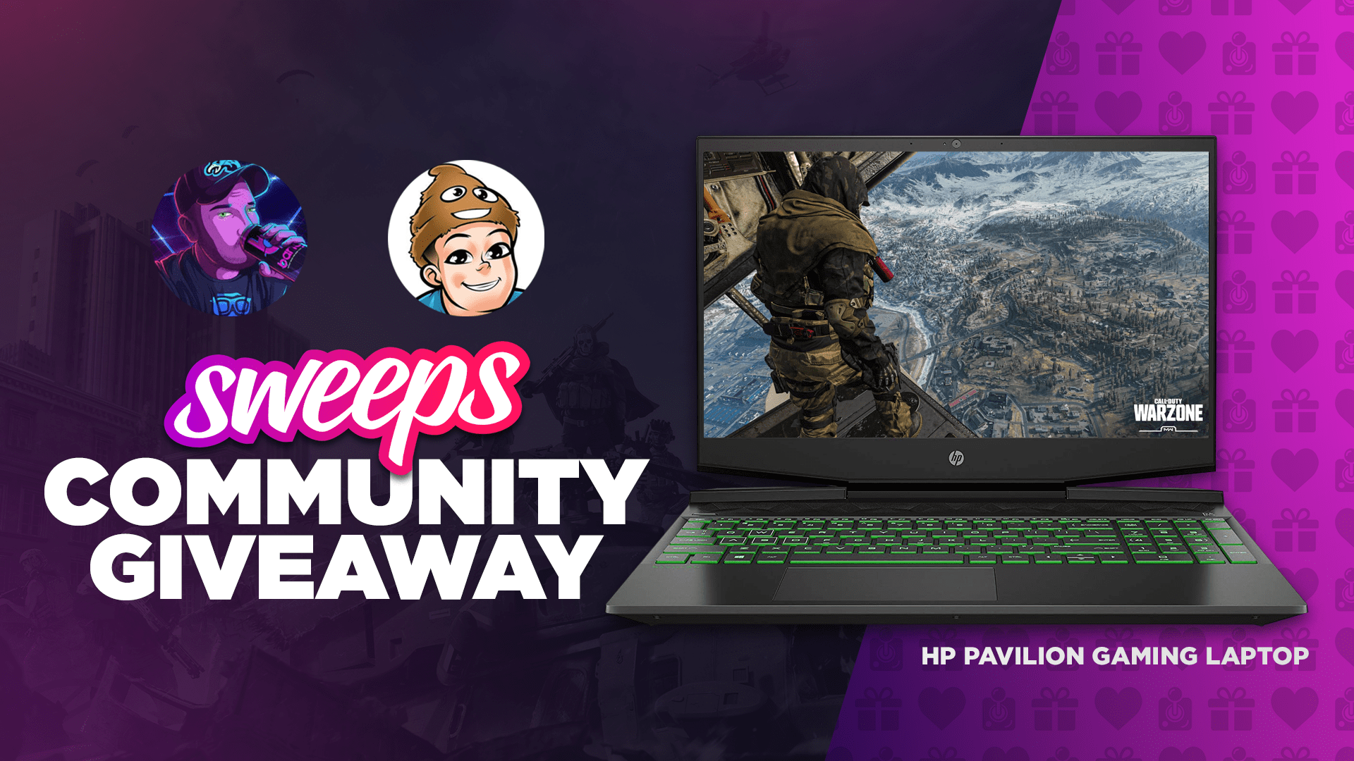AMG x Giveaway Squad x Sweeps: HP Pavilion Gaming Laptop Community Giveaway Giveaway Image