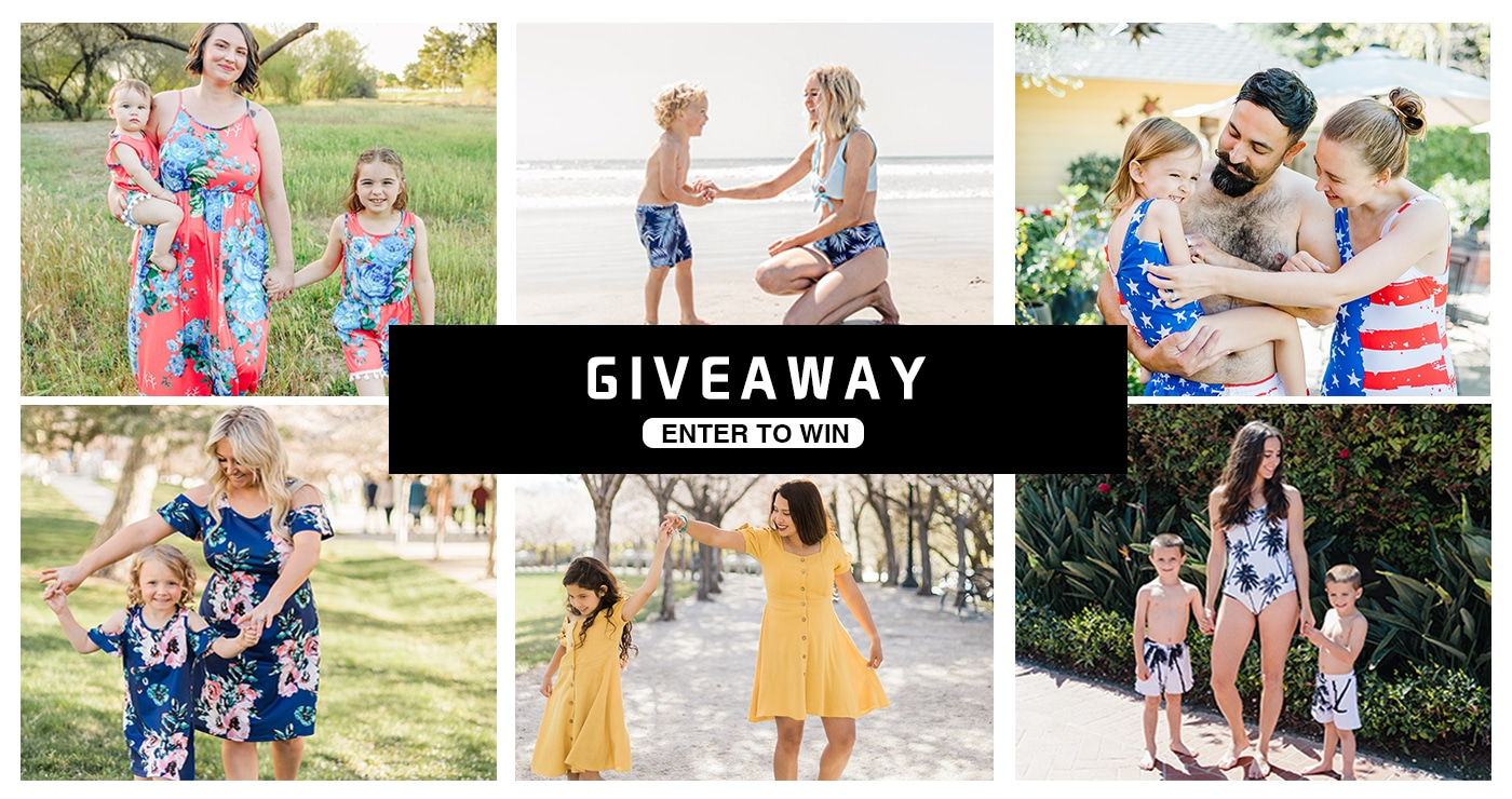 IFFEI Matching Suits & Dresses Giveaway! EIGHT winners: get a set of mommy and me swimsuit or dress Giveaway Image