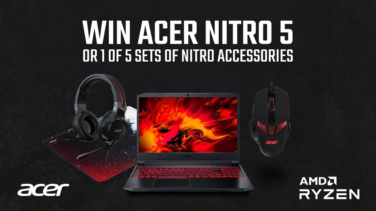Win Acer Nitro 5 with AMD processor
