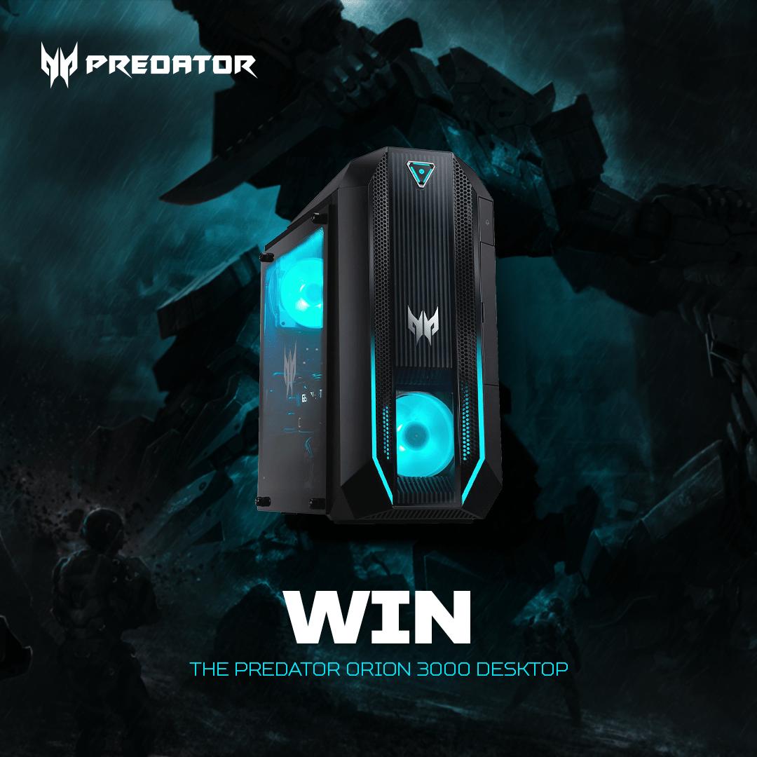 Win the Predator Orion 3000 desktop