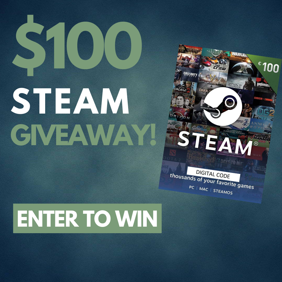 Win a £100 steam giftcard Giveaway Image