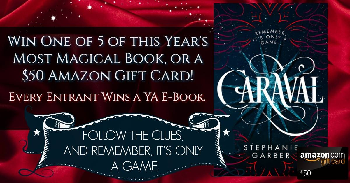 Win a copy of Caraval, an Amazon CG, & FREE ebooks!!