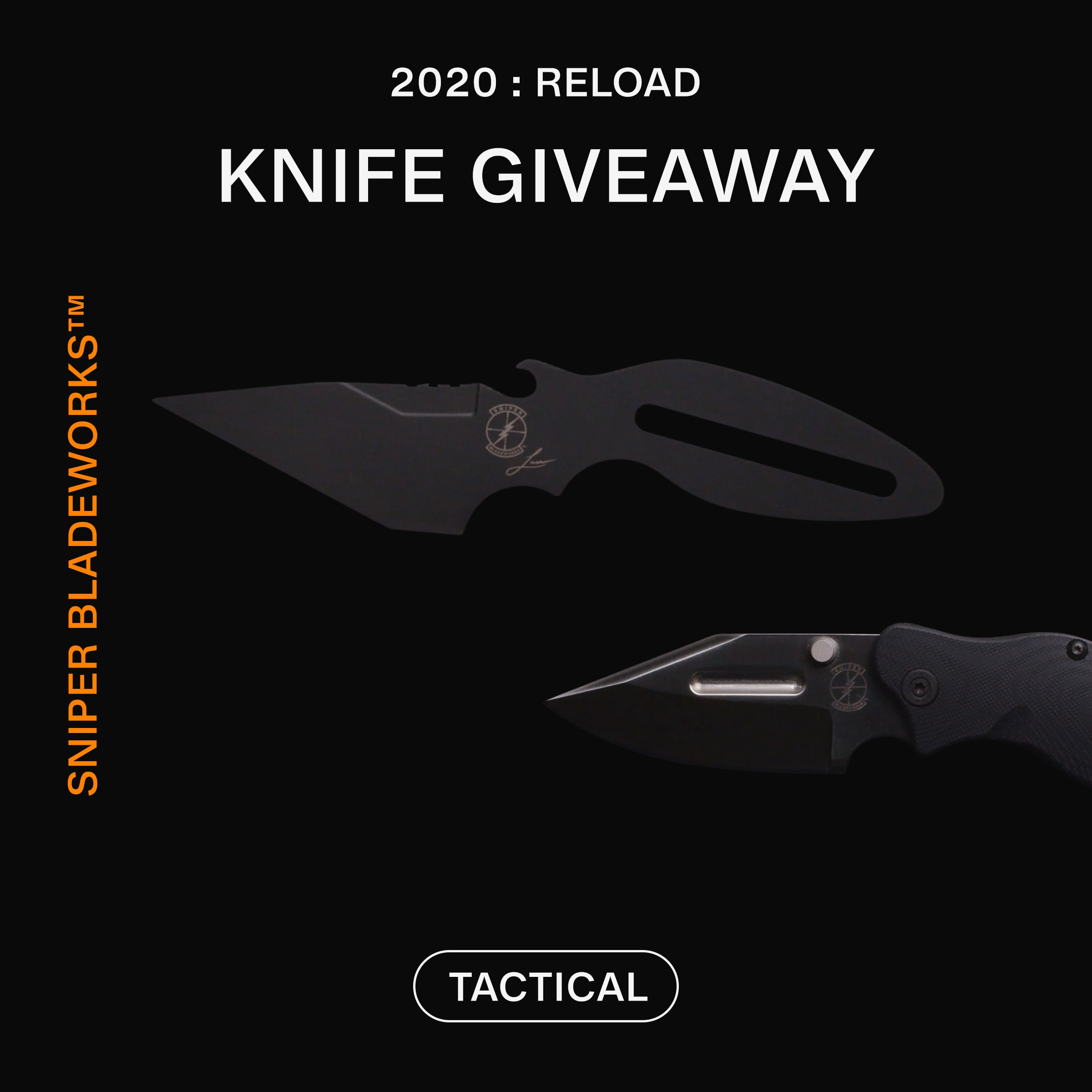 Enter to win a Tactical Dashi Knife and a Tactical LPC Knife from Sniper Bladeworks Giveaway Image