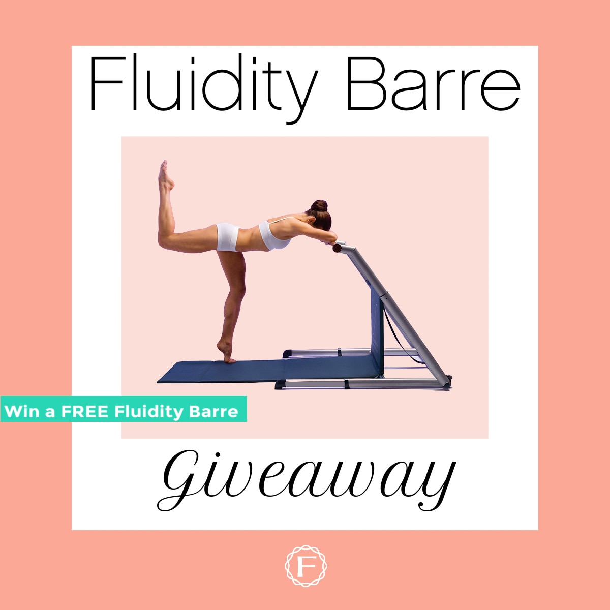 Enter to win the Ultimate Fluidity Workout Barre System. The package comes with a Mat, Beginner, Intermediate & Advanced DVDs, Ball, Pump, Bands and more. Reinvent yourself with just two 30-minute workouts a week. Giveaway Image