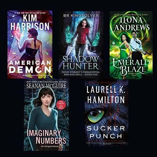 Enter to win 5 Urban Fantasy Novels in physical format. Giveaway Image