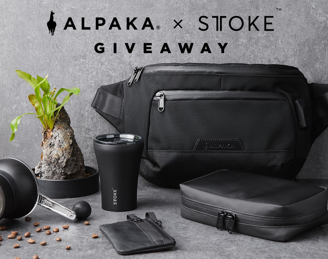 $320USD worth of gear. ALPAKA $200USD Gift Card and 3x STTOKE 8oz Luxe Black Cups Giveaway Image
