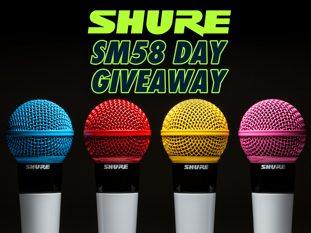 Win a Custom Color Shure SM58 Microphone! Giveaway Image
