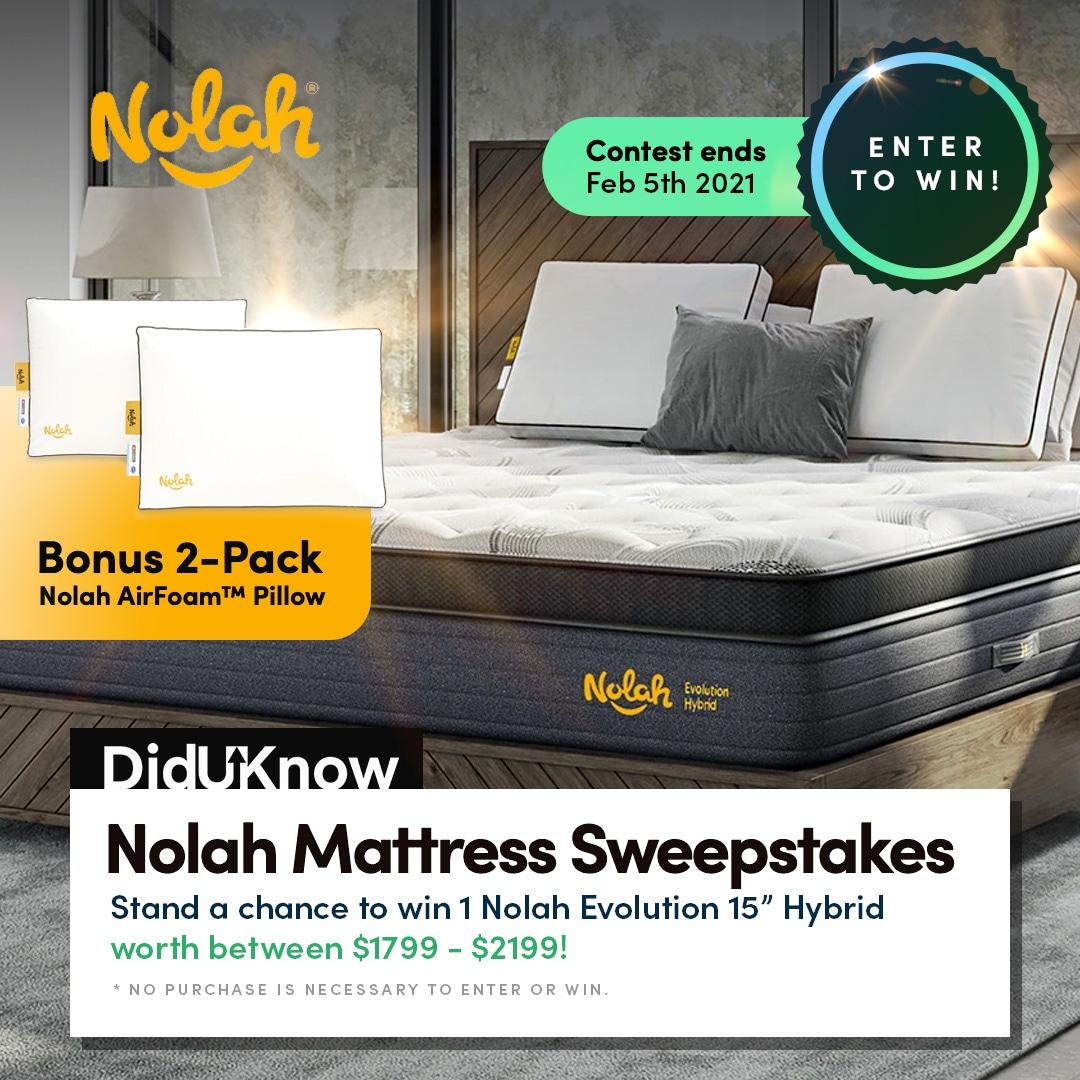 Nolah Mattress 2021 Giveaway