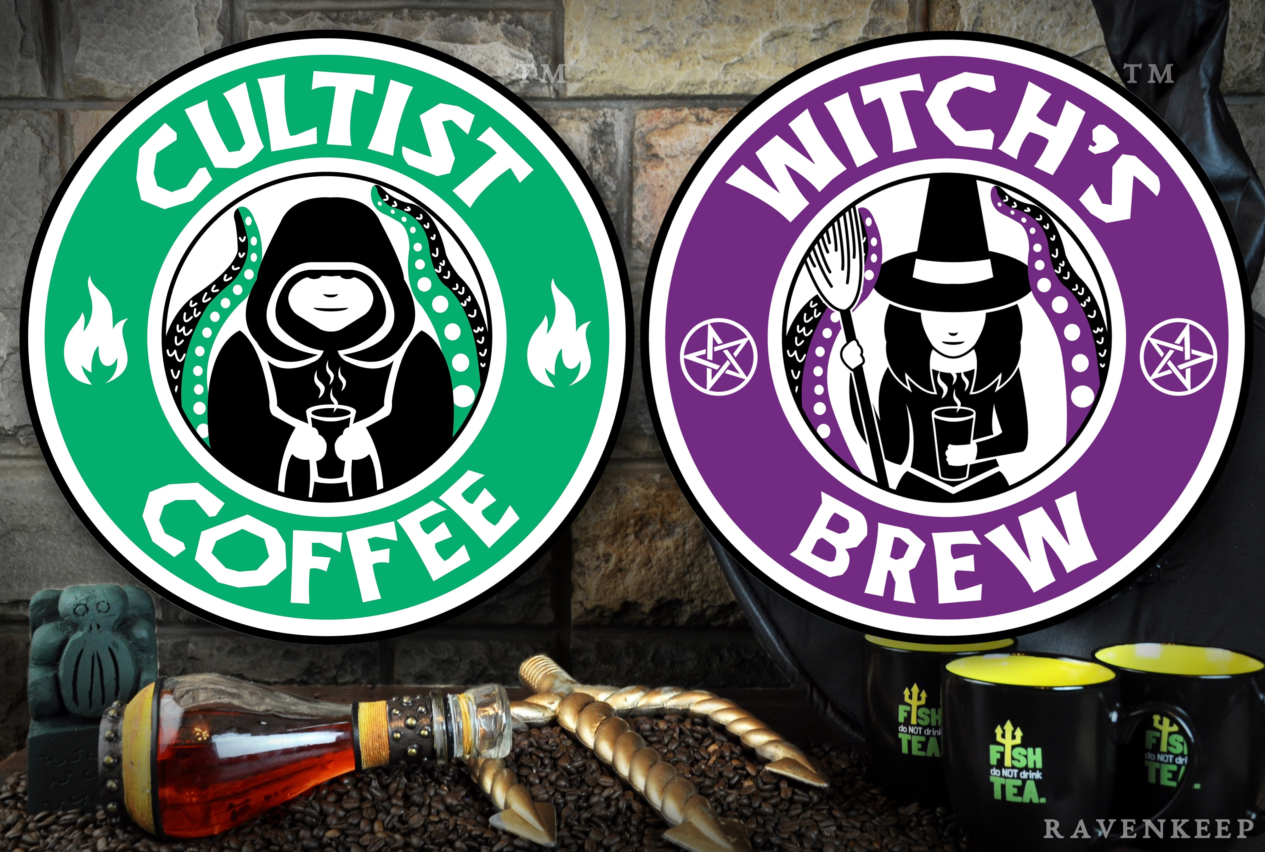 Enter to win three bags of Cultist�s Coffee and a �Fish Do Not Drink Tea� coffee mug. 3 Winners! Giveaway Image