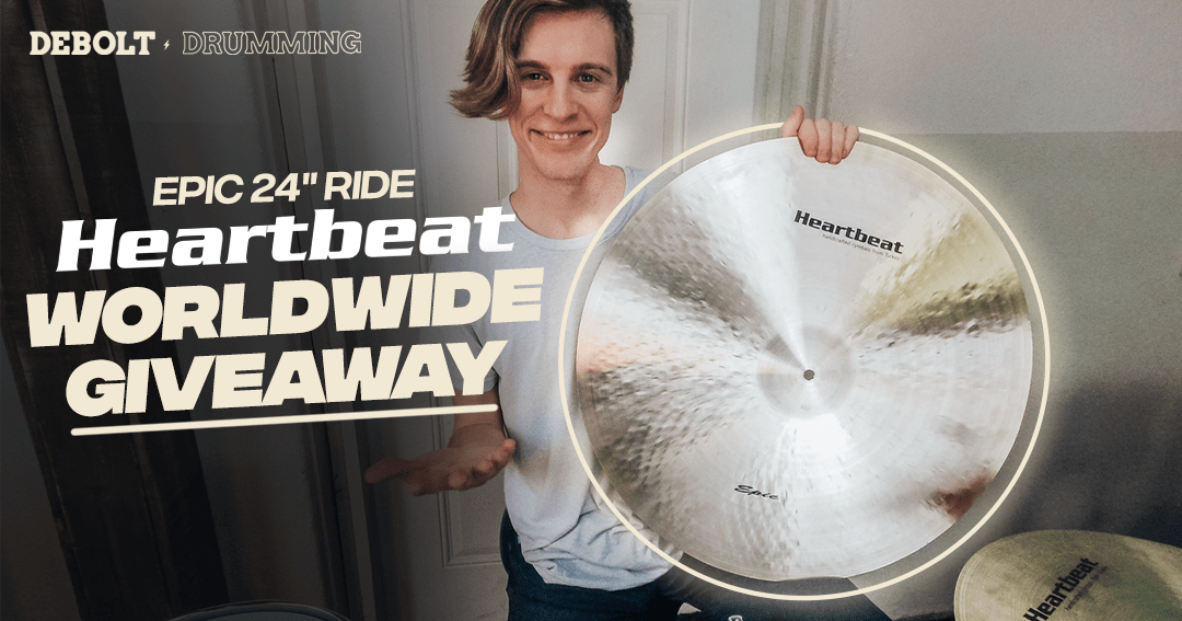 """Win a 24"""" Heartbeat Epic Ride Cymbal (estimated value $365) Worldwide Giveaway ?? Giveaway Image"""