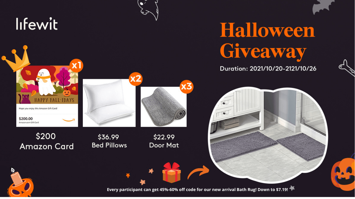 Enter to win a $200 Amazon Gift Card or 1 of 5 additional prize packs Containing Pillows or Doormats Giveaway Image