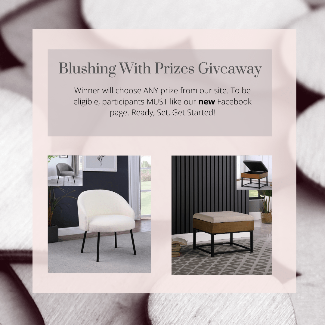 Blushing with Prizes Giveaway! Item of your choice at homepop.com. Giveaway Image