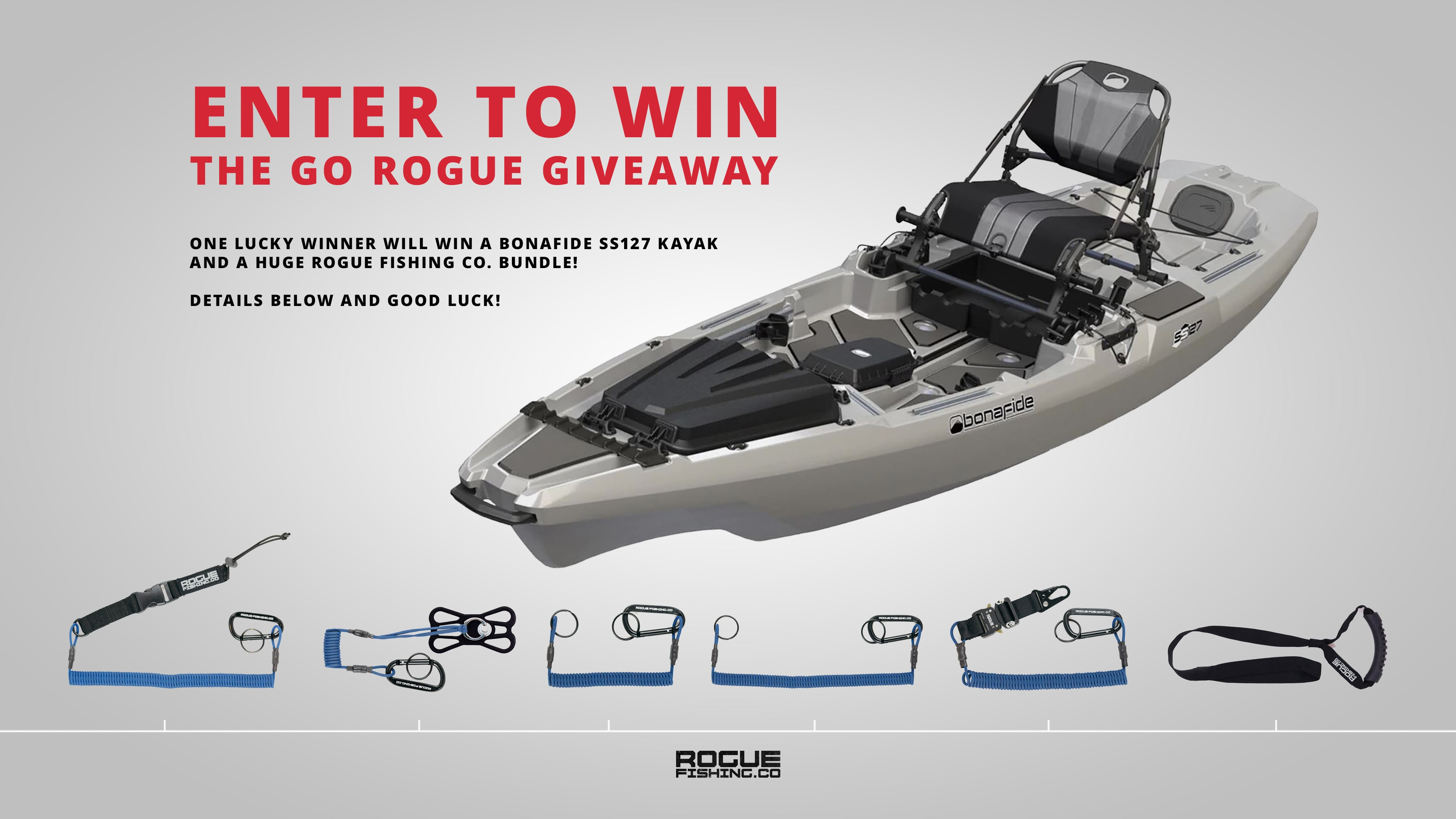 THE GO ROGUE GIVEAWAY. Win a Kayak. Giveaway Image