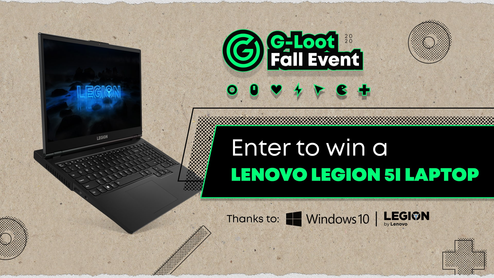 online contests, sweepstakes and giveaways - Enter to win a Legion 5i Laptop from Lenovo, Microsoft and G-Loot