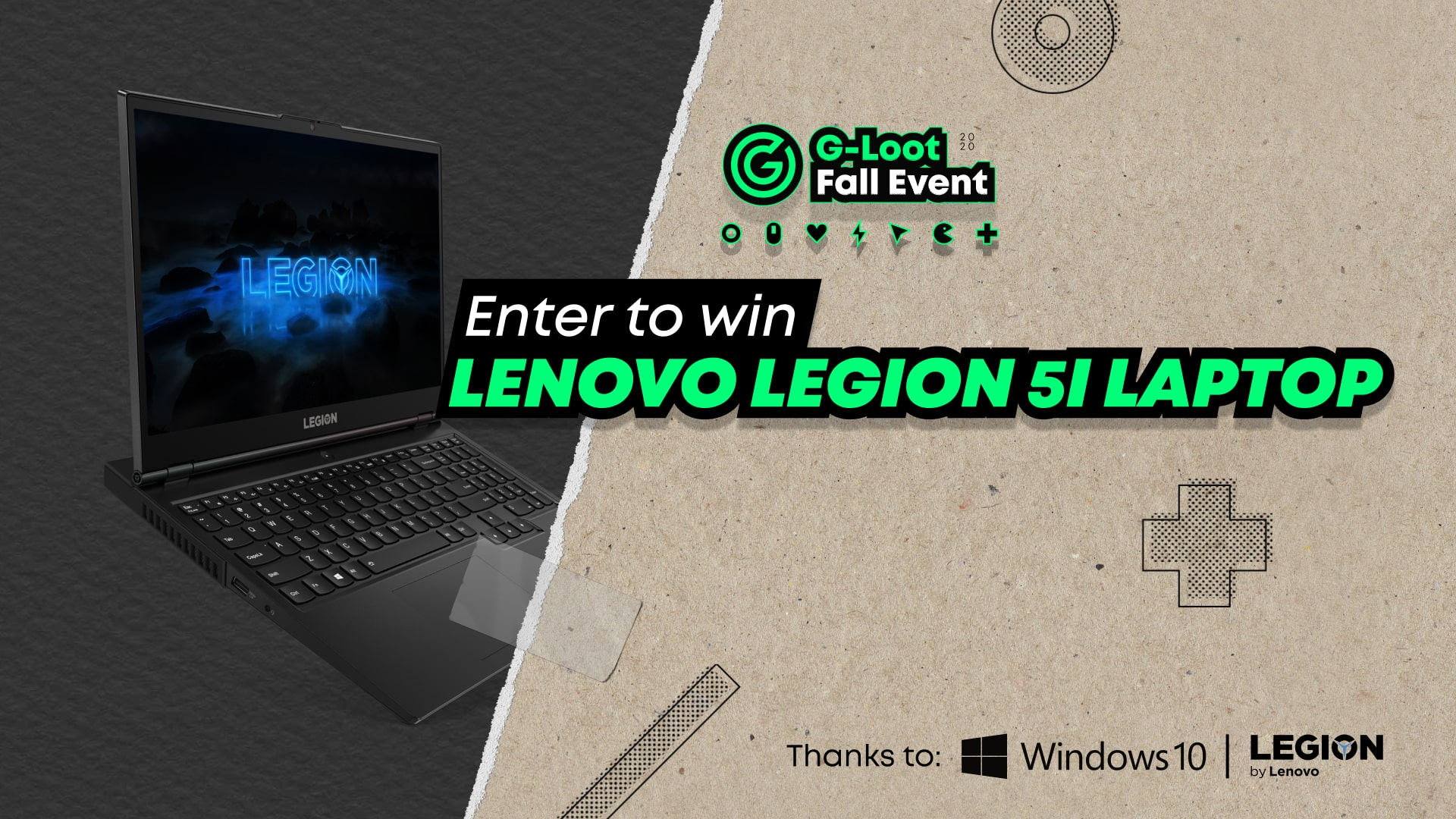 TWO WINNERS!! Legion 5i Laptop Giveaway Image