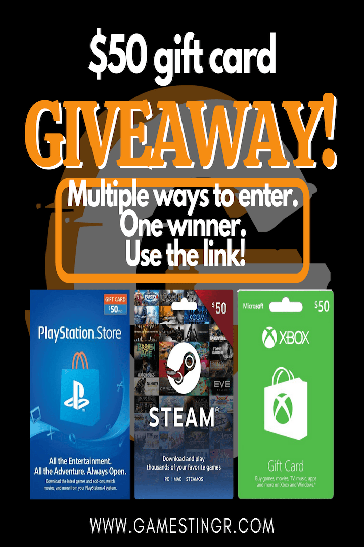 XBOX/Playstation/Steam $50 Gift Card Giveaway!