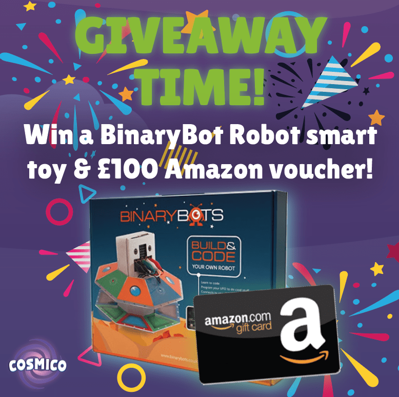 Win a build & code your own robot smart toy & £100 Amazon voucher!