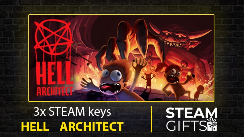 Enter to win a PC Steam copy of Hell Architect. Each copy retails at $25. 3 Winners! Giveaway Image