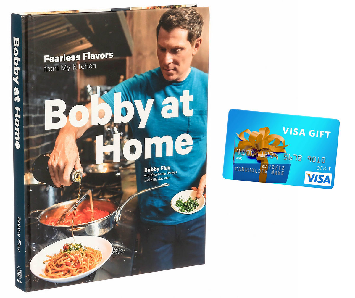 "Enter to win a $50 Visa Gift Card and a copy of ""Bobby at Home"" Cookbook Giveaway Image"