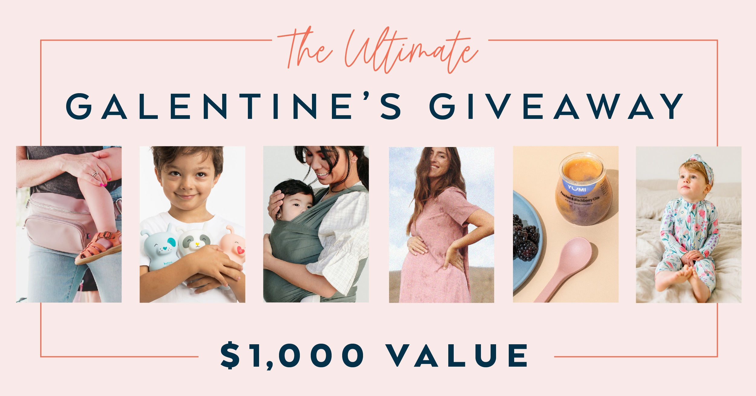 The Ultimate Galentine's Giveaway! 1 Kibou in your choice of color�packed full of accessories from @kiboubag $500 Gift card from @hatchgal $100 Gift cards from @sollybaby @yumi and @louloulollipop , $173 The Whole Gang of Clean Coconut Oil Skincare + Body Giveaway Image