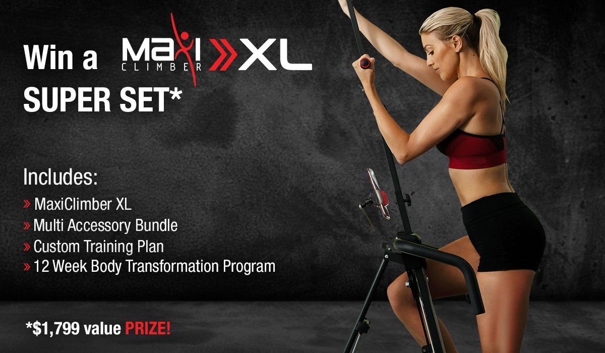 Win A FREE MaxiClimber XL Vertical Climber worth $1800! Giveaway Image