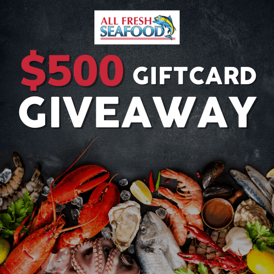 online contests, sweepstakes and giveaways - All Fresh Seafood $500 Gift Card Giveaway