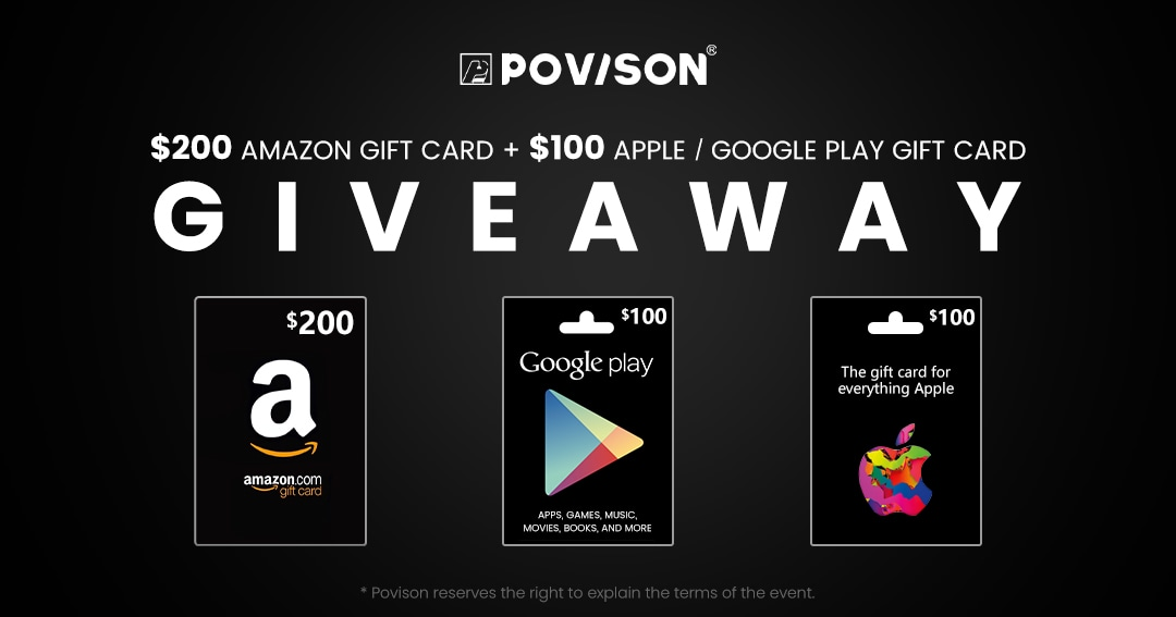 Win $200 Amazon Gift Card + $100 Apple / Google Play Gift Card Giveaway