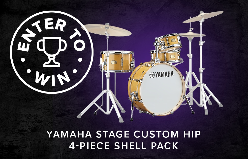 ENTER-TO-WIN A Yamaha Stage Custom Hip 4-Piece Shell Pack!