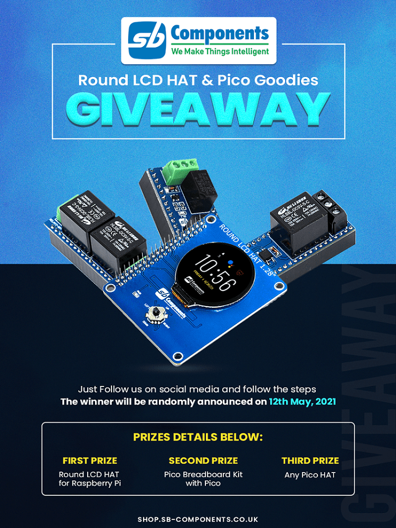 Round LCD HAT & Pico Goodies Giveaway Giveaway Image