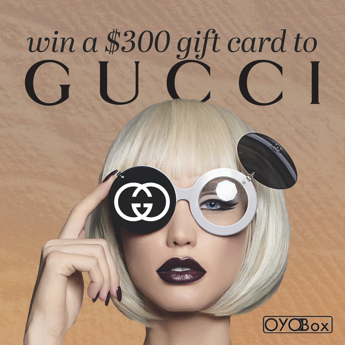 Win a $300 Gucci Gift Card! Giveaway Image