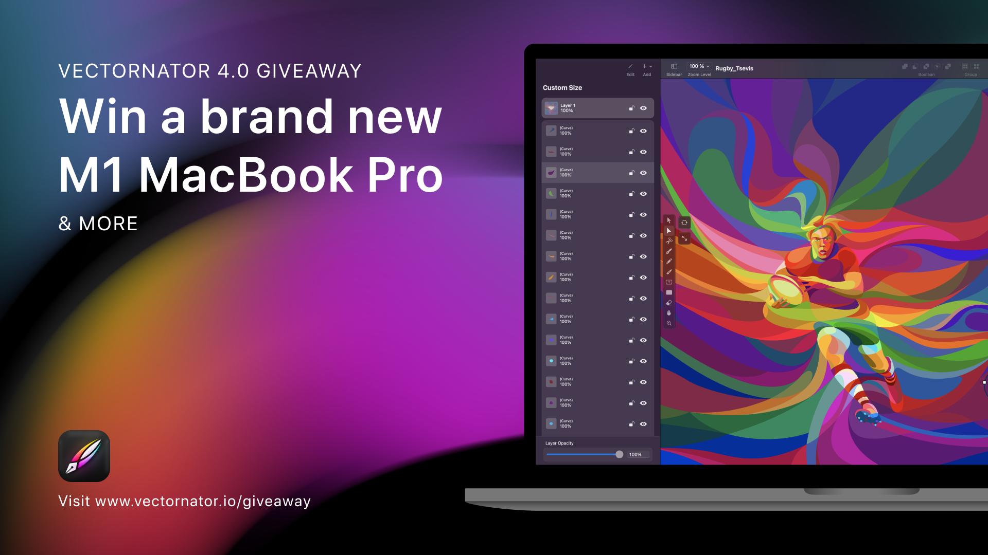Vectornator 4.0 Macbook Pro M1 giveaway