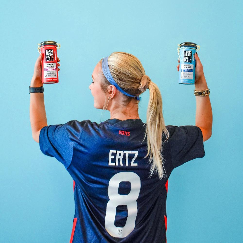 Enter to win an Olympian Julie Ertz Soccer Jersey and Tiesta Tea Package. 2 Winners! Giveaway Image
