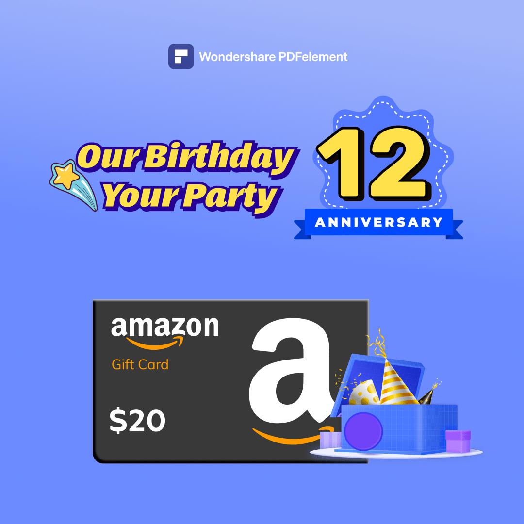 Win a $20 Amazon Card