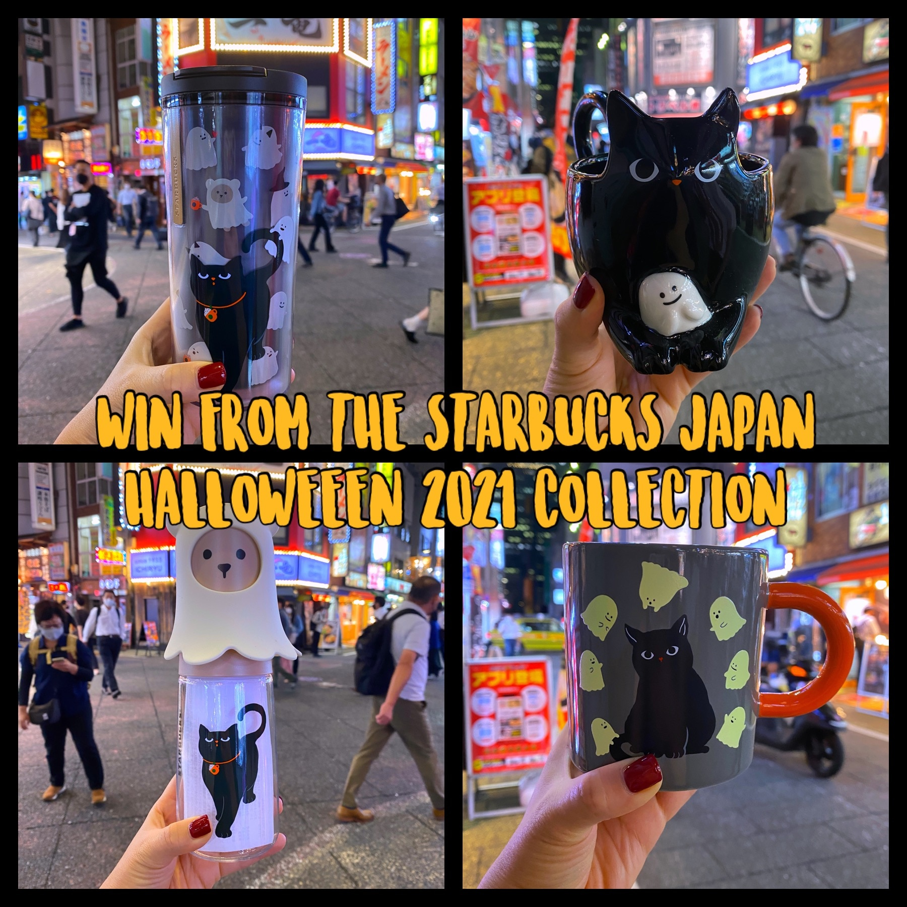 Sugoi Mart is putting on a Starbucks Japan Halloween Giveaway! Open Internationally. Win a Starbucks japan exclusive Halloween 2021 tumbler Giveaway Image