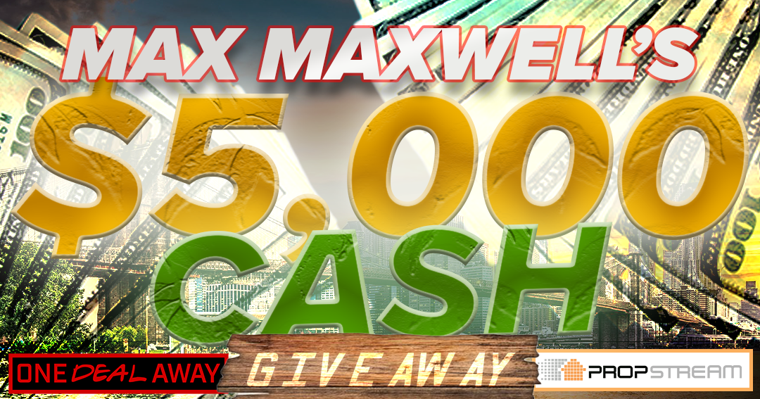 Max Maxwell's 5000 Dollar Giveaway! 5 will win $1000 each! Giveaway Image