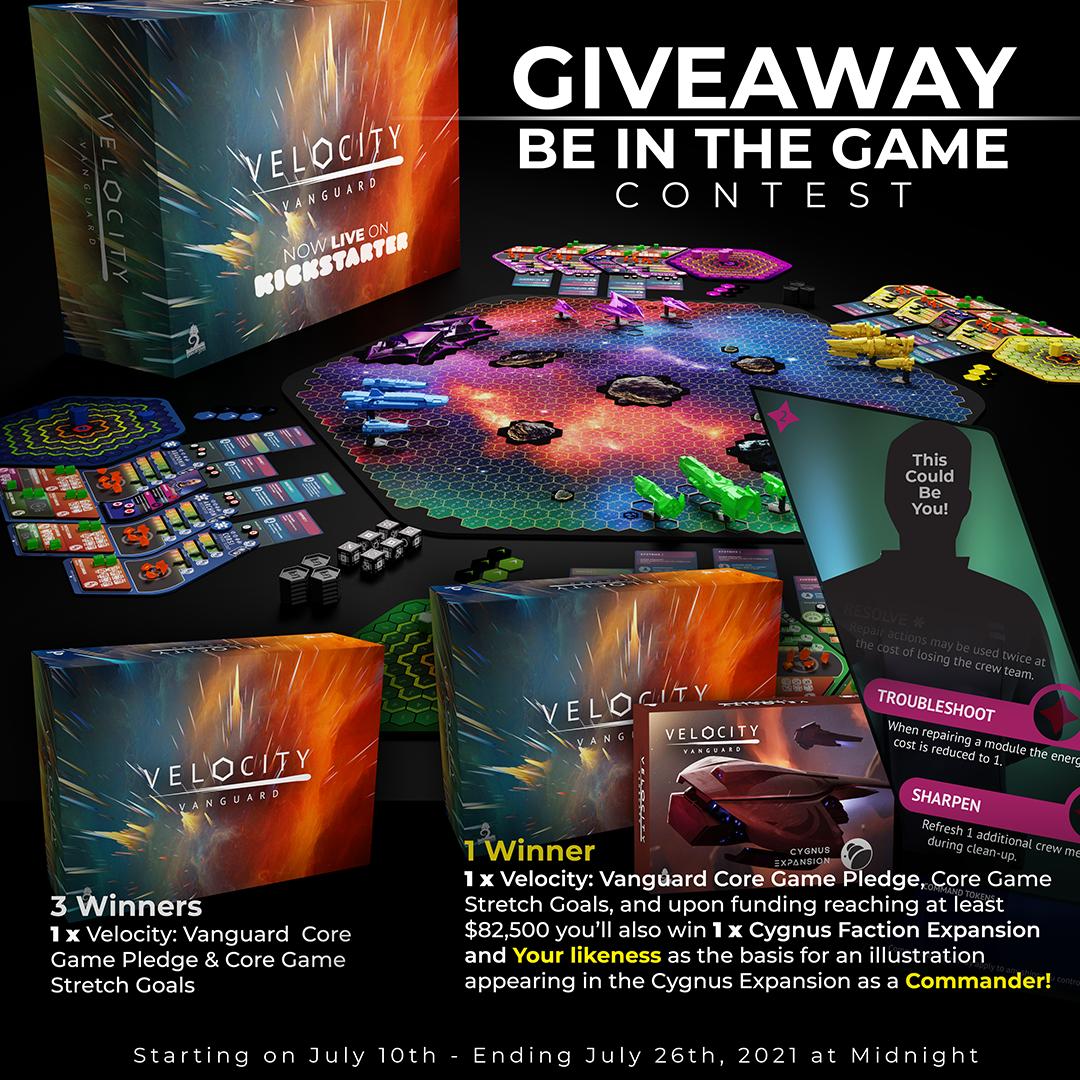 4 winners! Win the board game Velocity: Vanguard Giveaway Image