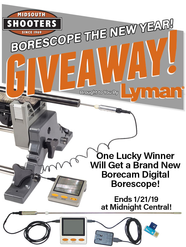 Borescope the New Year with Midsouth Shooters and Lyman Products Giveaway - Win a Lyman Borecam Digital Borescope with Monitor Giveaway Image