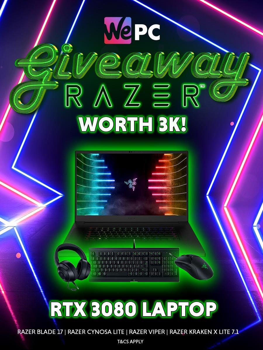 $3000 Gaming Laptop Giveaway - Razer Blade Pro 17 & Peripheral Bundle -  ends Giveaway Image