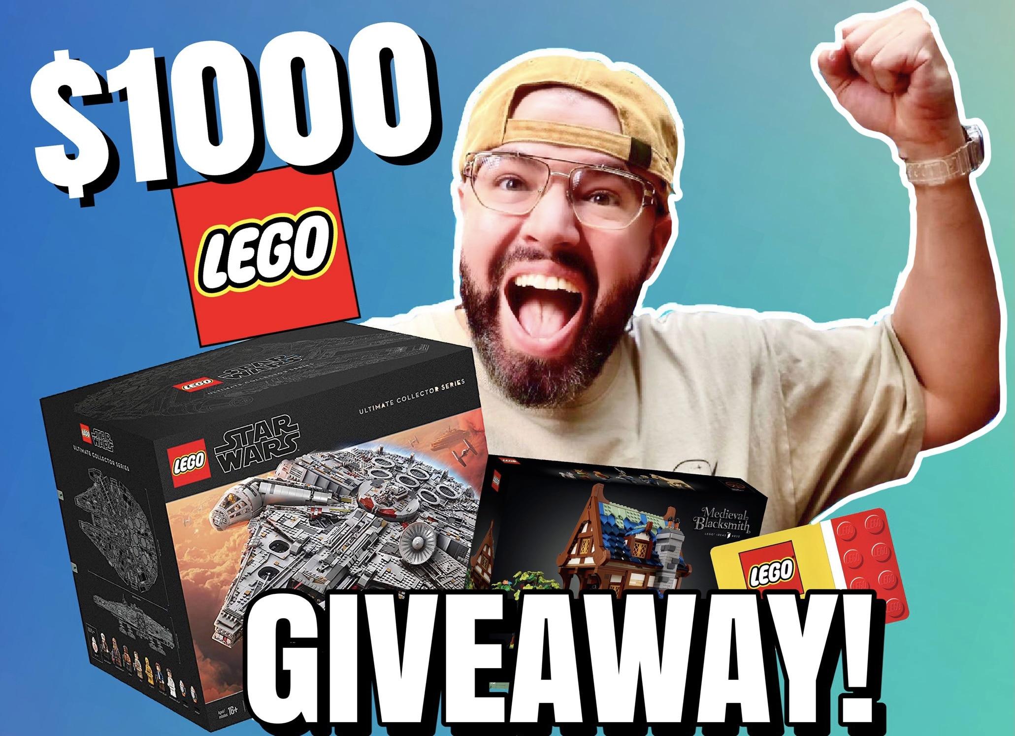 $1000 LEGO GIVEAWAY! 20K Subscriber Celebration! Giveaway Image