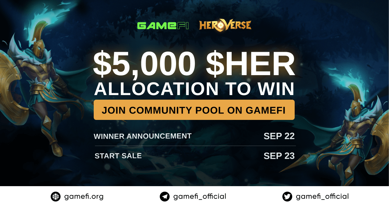 Enter to Win $5,000 $HER Allocation