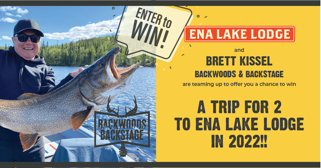Trip for 2 to Ena Lake Lodge 2022 with Brett Kissel & Backwoods Backstage Giveaway Image