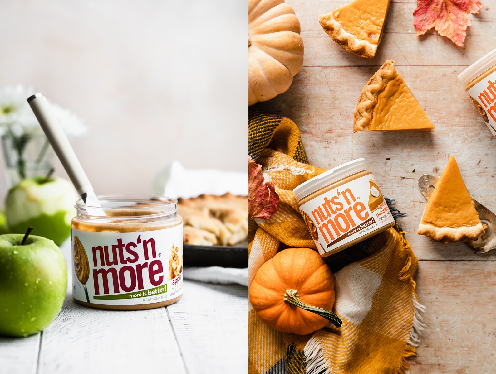 Enter to win 2 Jars of Apple Crisp Nuts 'N More Peanut Butter and 2 Jars of Spiced Pumpkin Pie Nuts 'N More Peanut Butter. Giveaway Image