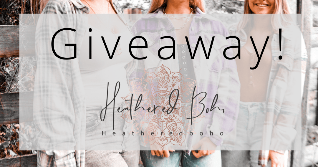 Enter to win $500, $100 or $25 Store Credit to Heathered Boho OR a Pair Of Denim. 24 Winners! Giveaway Image