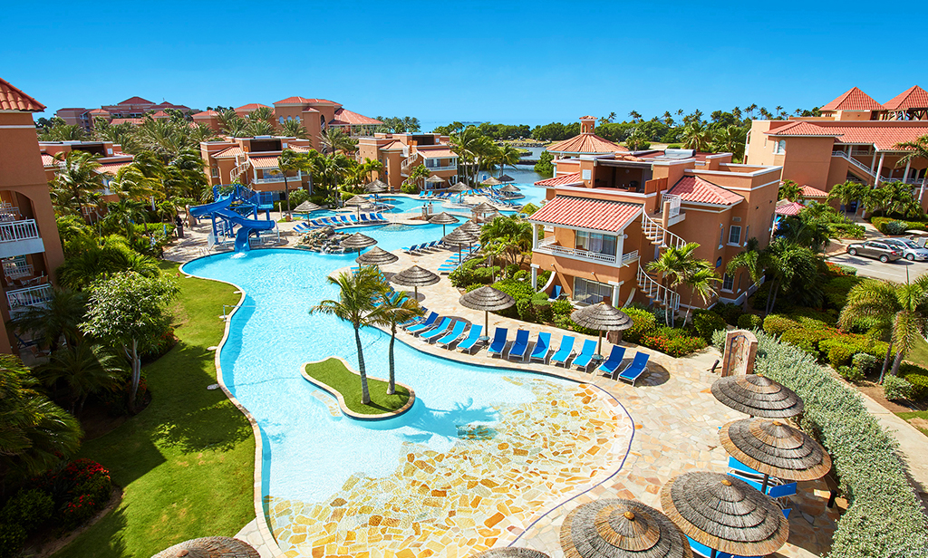 Enter for a chance to win a six night stay for two adults and two children in Aruba Giveaway Image