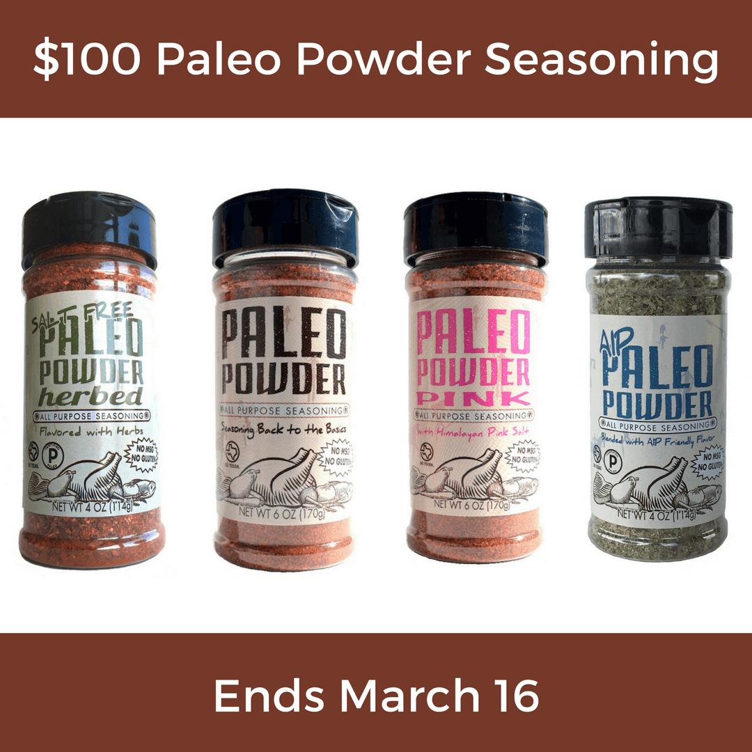 $100 Paleo Powder Seasoning Gift Certificate Giveaway