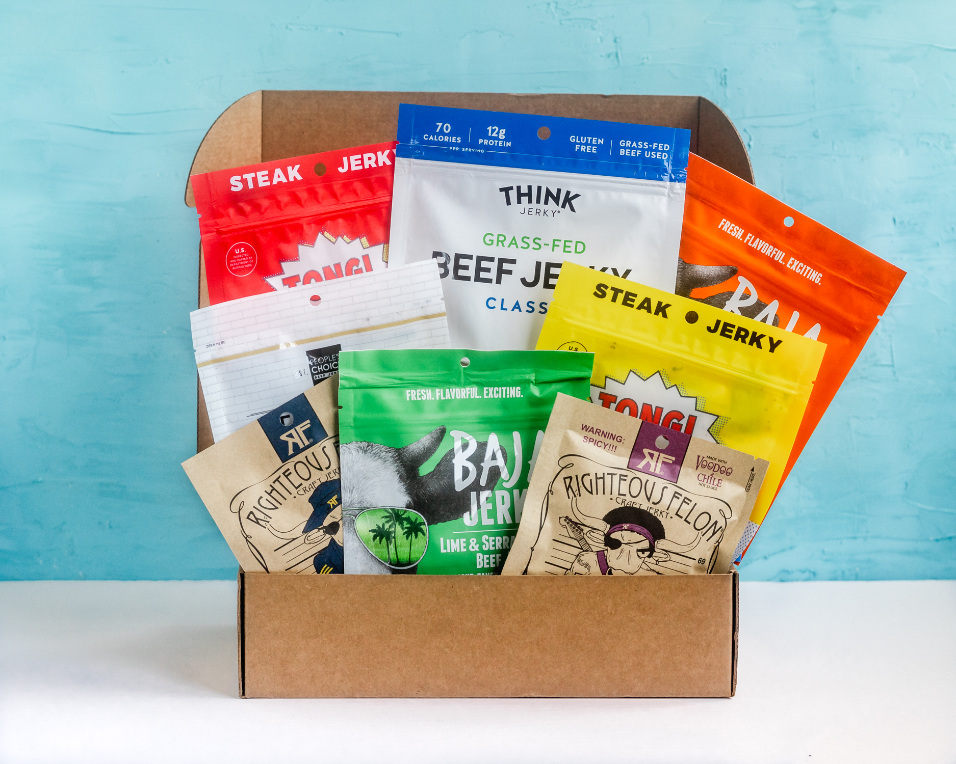 Win a box of assorted beef jerky from Craft Jerky Giveaway Image