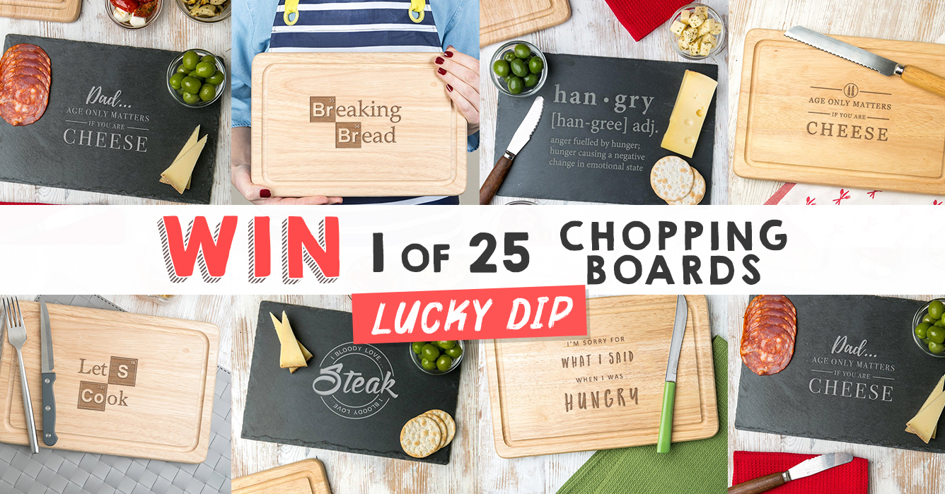 LUCKY DIP COMPETITION: WIN 1 of 25 Funny Chopping Boards Giveaway Image